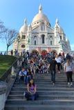 Sacré-Coeur大教堂在巴黎 库存照片