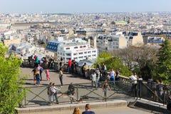 Sacré-Coeur大教堂在巴黎 库存图片