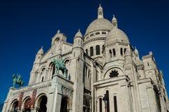 Sacré Coeur大教堂-蒙马特,巴黎(法国) 免版税图库摄影
