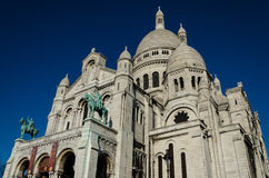 Sacré Coeur domkyrka - Montmartre, Paris (Frankrike) Royaltyfri Fotografi