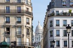 Sacré-coeur basilika i Paris Arkivbild