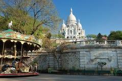 Sacré-Coeur i Paris Fotografering för Bildbyråer