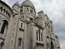 Sacré-Coeur. Left side of the building royalty free stock image