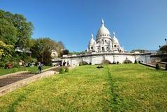 Sacré-Coeur in Parijs Stock Afbeelding