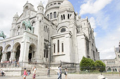 Sacré Coeur, Paris. The Basilica of the Sacred Heart of Paris, commonly known as Sacré-Cœur Basilica (French: Basilique du Sacré-Cœur, pronounced, is a Royalty Free Stock Images
