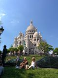 The Sacré Coeur in paris. Sacré Coeur in paris with bice blue weather Stock Photo