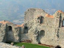 Sacra di San Micaela, abadía medieval italiana Foto de archivo