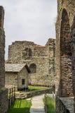 Sacra di San Micaela - santo Michael Abbey, Italia Foto de archivo libre de regalías