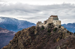 Sacra di San Michele abbey - val susa Avigliana - Turin - Piemo royalty free stock photography