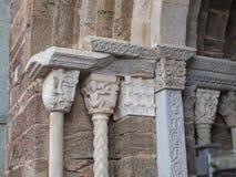 Sacra di San Michele abbotskloster Arkivfoto