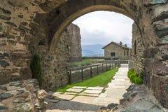 Sacra di San Michele - Heiliges Michael Abbey, Italien Lizenzfreie Stockfotografie