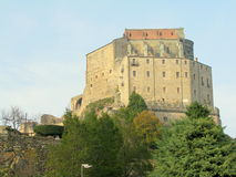 Sacra di San Michele, italian medieval abbey Royalty Free Stock Images
