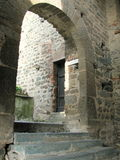 Sacra di San Michele, italienische mittelalterliche Abtei Lizenzfreie Stockfotos
