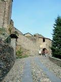 Sacra di San Michele, italienische mittelalterliche Abtei Stockfotografie