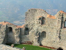 Sacra di San Michele, italienische mittelalterliche Abtei Stockfoto
