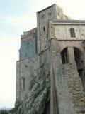 Sacra di San Michele, italienische mittelalterliche Abtei Stockfotos
