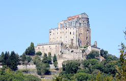 Sacra di San Michele on Mount Pirchiriano, Italy Royalty Free Stock Images