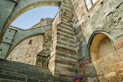 Sacra di San Michele, Piedmont Arkivbilder