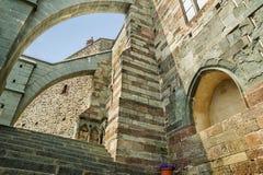 Sacra di San Michele, Piemont Stockbilder