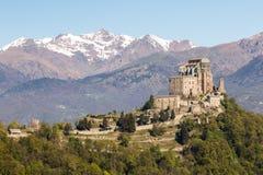 Sacra di San Michele Saint Michael Abbey auf Berg Pirchiriano Stockfoto