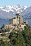 Sacra di San Michele Saint Michael Abbey en el soporte Pirchiriano Fotos de archivo