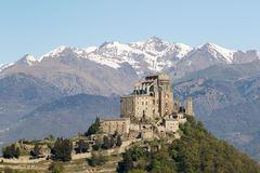 Sacra di San Michele Saint Michael Abbey on Mount Pirchiriano Royalty Free Stock Image