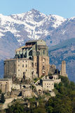 The Sacra di San Michele Saint Michael Abbey , the symbol of t Royalty Free Stock Photography