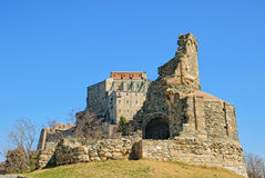 Sacra di San Michele and Sepulchre of Monks in Piedmont, Italy Stock Photos