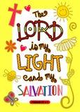 Sacra scrittura Art Poster della bibbia Immagini Stock