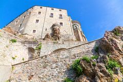 Sacra von St Michael, Piemont, Turin, Italien Stockbild