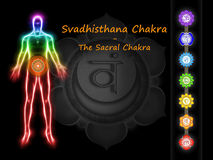 Sacral Chakra Royalty-vrije Stock Afbeeldingen
