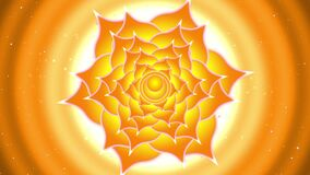 Sacral Chakra - Svadhisthan rotating, spiritual symbol, starburst,seamless