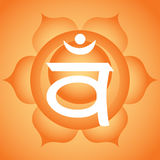 Sacral chakra Royalty Free Stock Photos