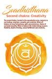 The Sacral Chakra vector illustration Royalty Free Stock Image