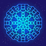Sacral design för geometri 3d Mandala arabesque på himlen Royaltyfri Fotografi