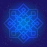 Sacral geometridiagram i kosmisk himmel Arkivbild