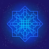 Sacral geometry figure in cosmic sky Stock Image