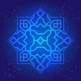 Sacral geometry figure in cosmic sky Royalty Free Stock Photo