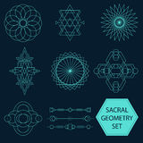 Sacral Geometry Vector Set Stock Photos