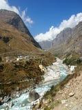 Sacral Himalayagebergte Badrinath royalty-vrije stock foto's