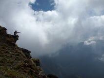 Sacral Himalayagebergte Chandrashilla Royalty-vrije Stock Afbeeldingen