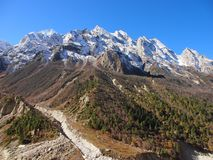 Sacral Himalayagebergte Gangotri royalty-vrije stock foto