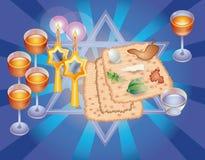 Sacral maaltijd op Pesakh (Pascha) Stock Illustratie