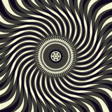Sacral symbolen en optische illusie Stock Foto's