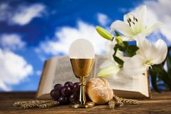 Sacrament of communion, Eucharist symbol royalty free stock images