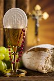 Eucharist, sacrament of communion background royalty free stock images