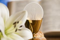 Sacrament of communion, Eucharist symbol stock image