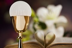 I Love religion for christianity background. Sacrament of communion, Eucharist symbol stock photos