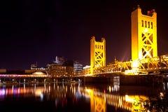 Sacramento överbryggar Royaltyfri Fotografi