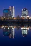 Sacramento bij nacht Royalty-vrije Stock Foto's